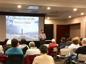 Dr. Nathan Gerowitz speaking in Palatine